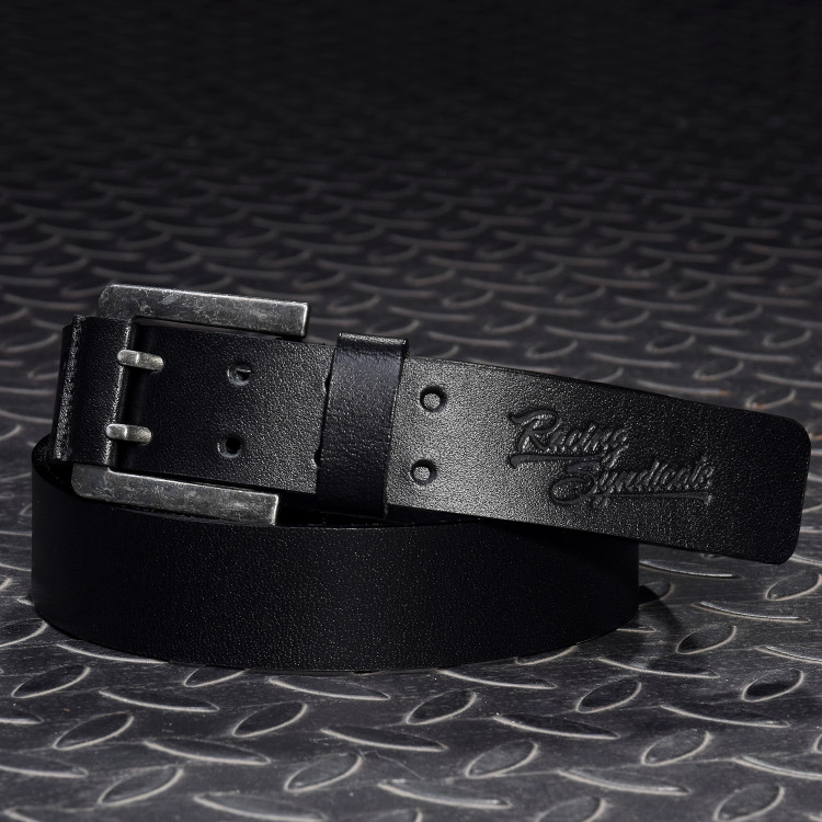 Leather belt Double Black