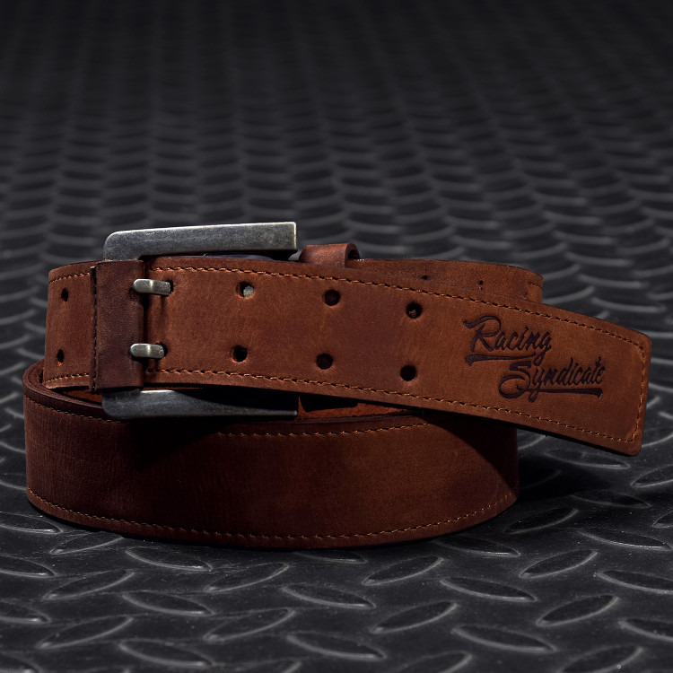 Leather belt Double