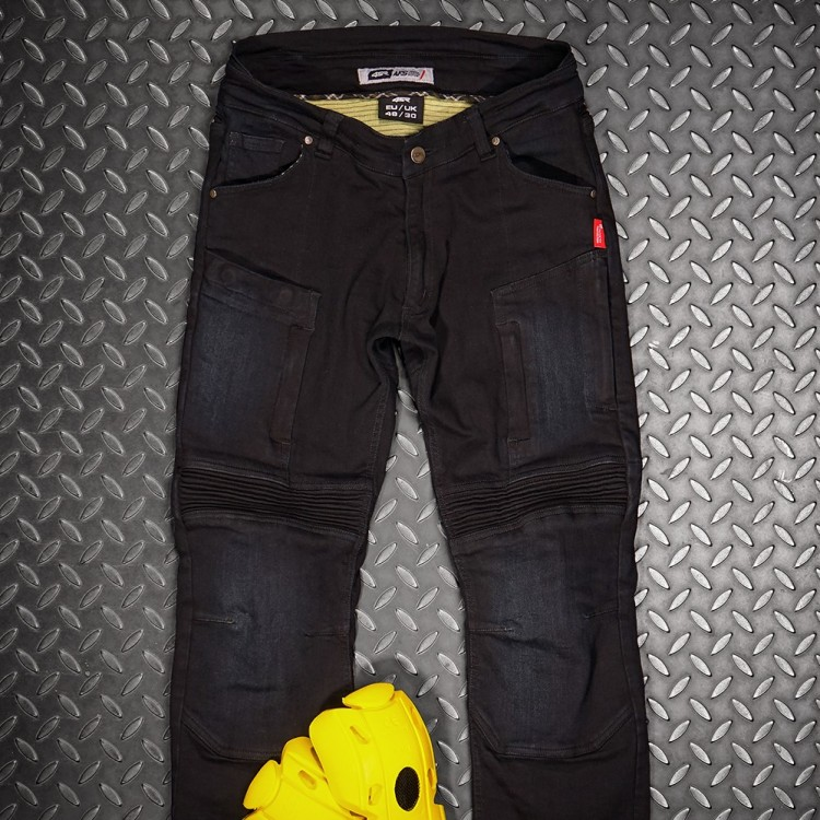 4SR Motorcycle clothing and protective gear - New Motorcycle Jeans Club Sport Sky Black