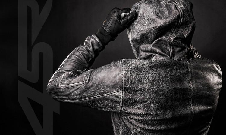 Motorcycle leather Hoodie Jacket