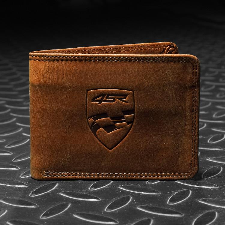 4SR leather wallet Money Maker Brown