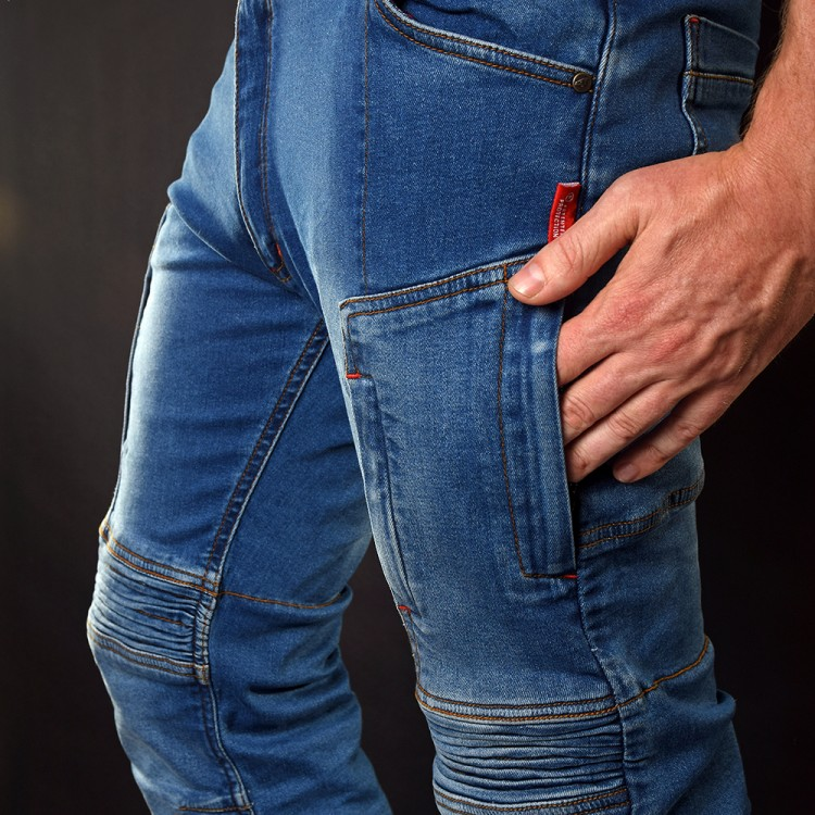 Long Motorcycle Jeans