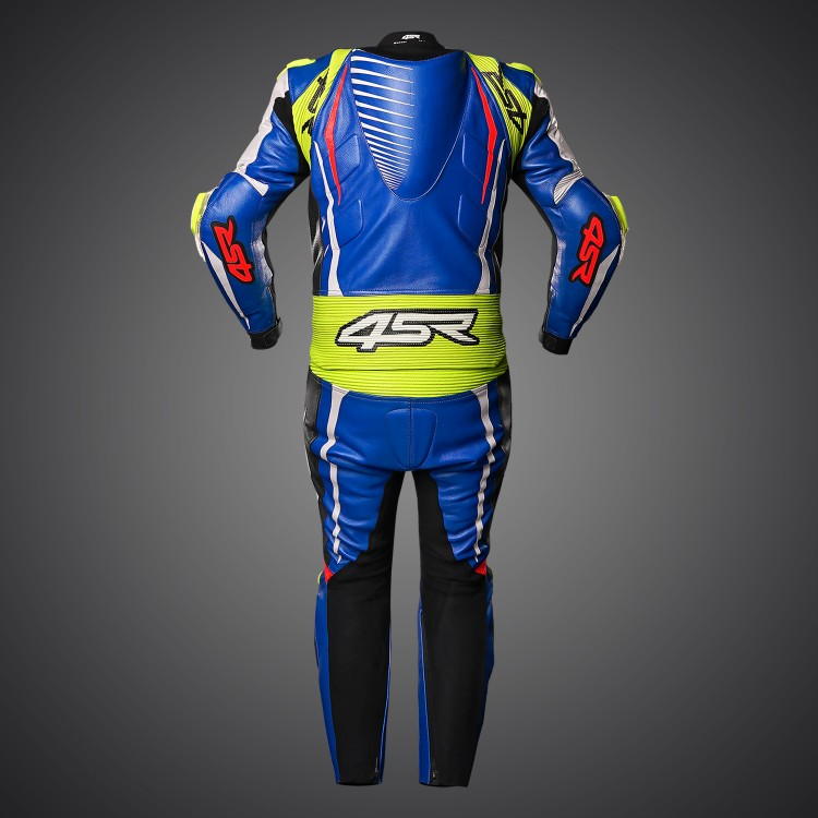 4SR Motorcycle clothing and protective gear - motorcycle 2PC suit RR Evo III Cobalt Blue