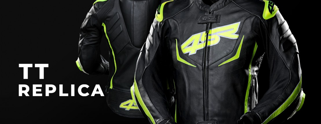 4SR Motorcycle clothing and protective gear - TT Replica sports leather jacket