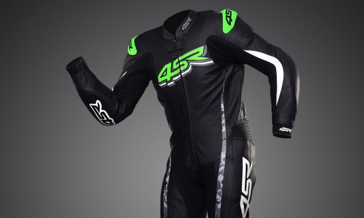 4SR Motorcycle clothing and protective gear - Racing Monster Green 1pc leathers