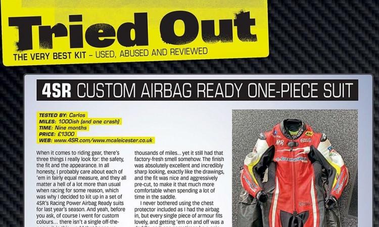 4SR Leathers Review - Fast Bikes Magazine Carl Stevens
